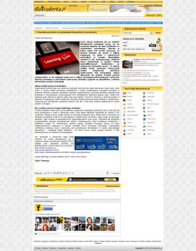 E-learning sposobem na podniesienie kompetencji zawodowych