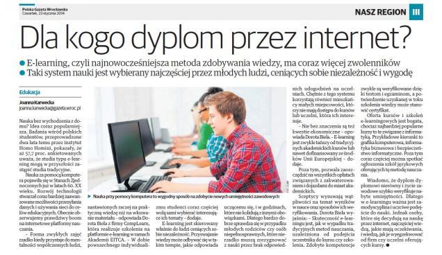 Dla kogo dyplom przez internet?
