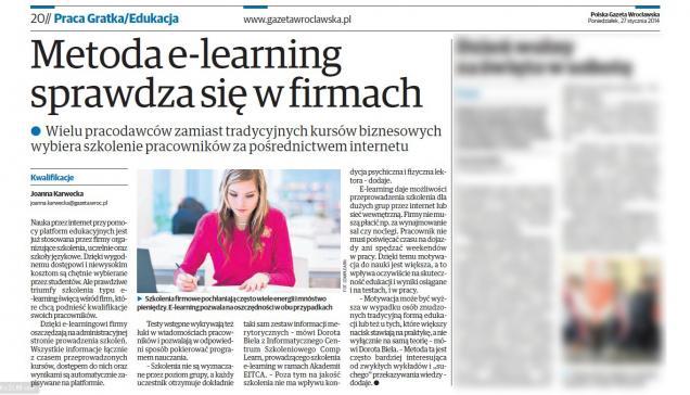 Metoda e-learning sprawdza się w firmach